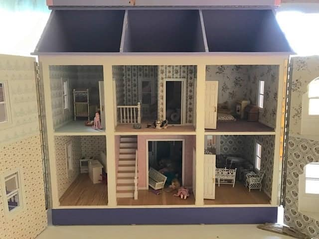 Homemade dollhouse inside
