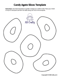 Image of template to make molds for candy agate slices