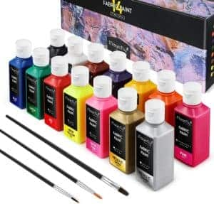 Magicfly Permanent Soft Fabric Paint Set with Gold and Silver