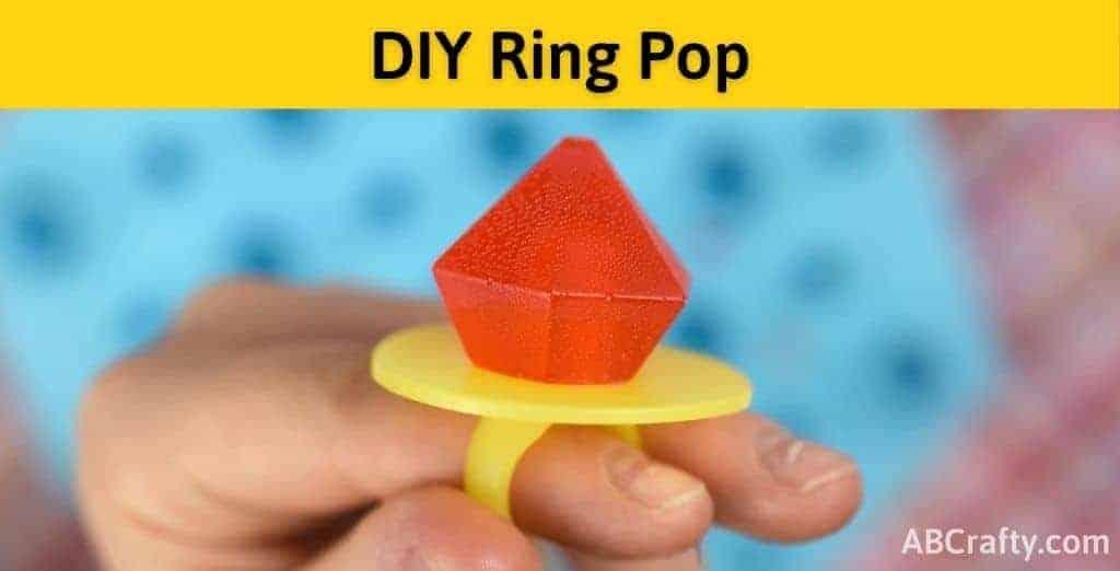 Finished DIY ring pop