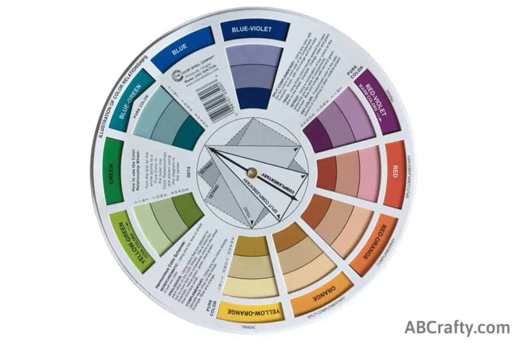 color wheel showing complimenting colors of blue-violet and yellow-orange