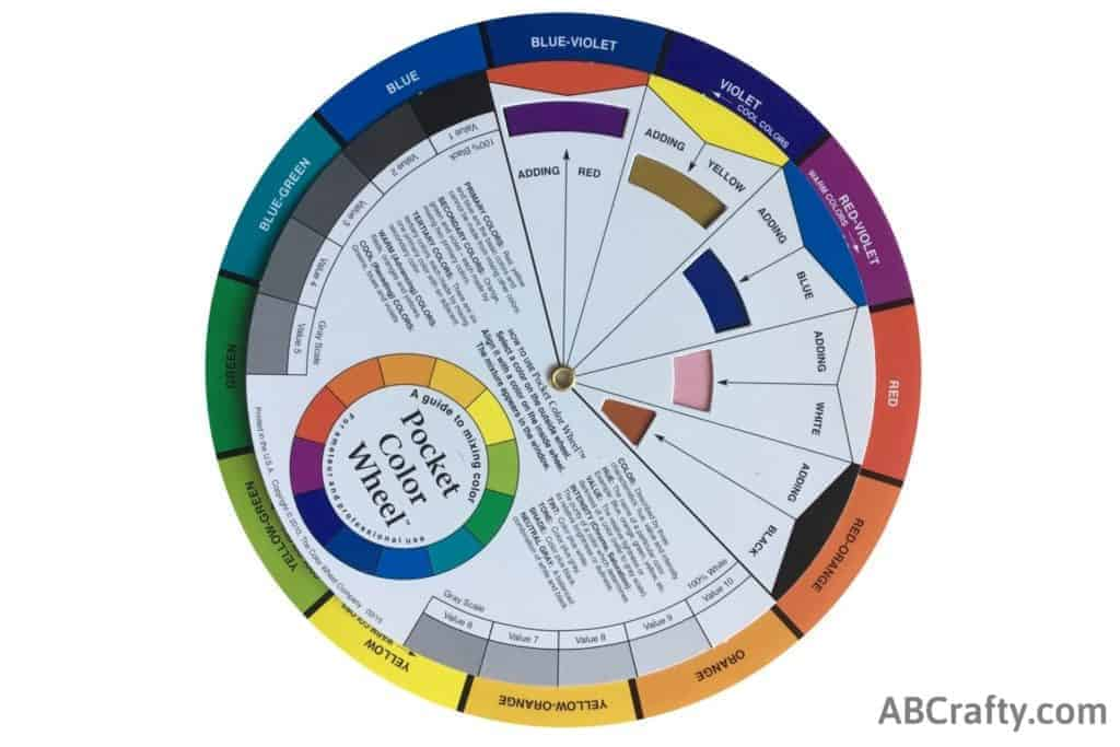 color wheel showing purple made from adding red to blue-violet