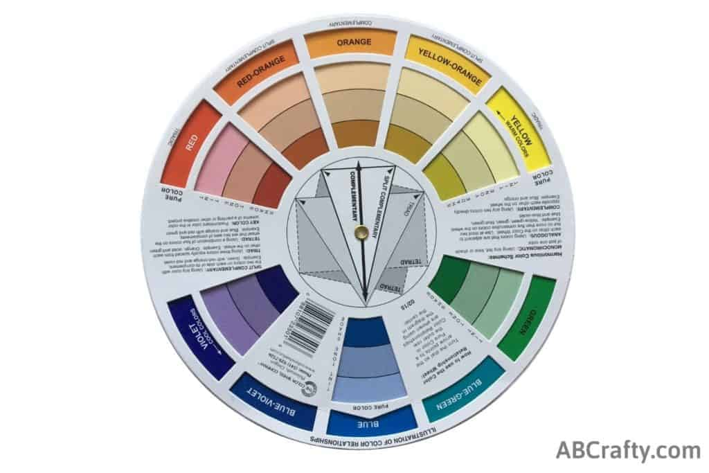 color wheel showing complimenting colors of blue and brown