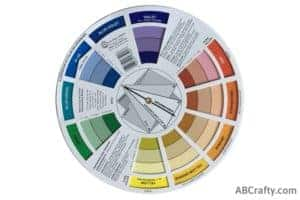 color wheel showing complimenting colors of purple or violet and yellow