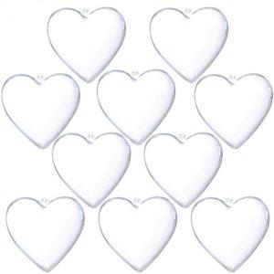 hearts plastic fillable ornaments