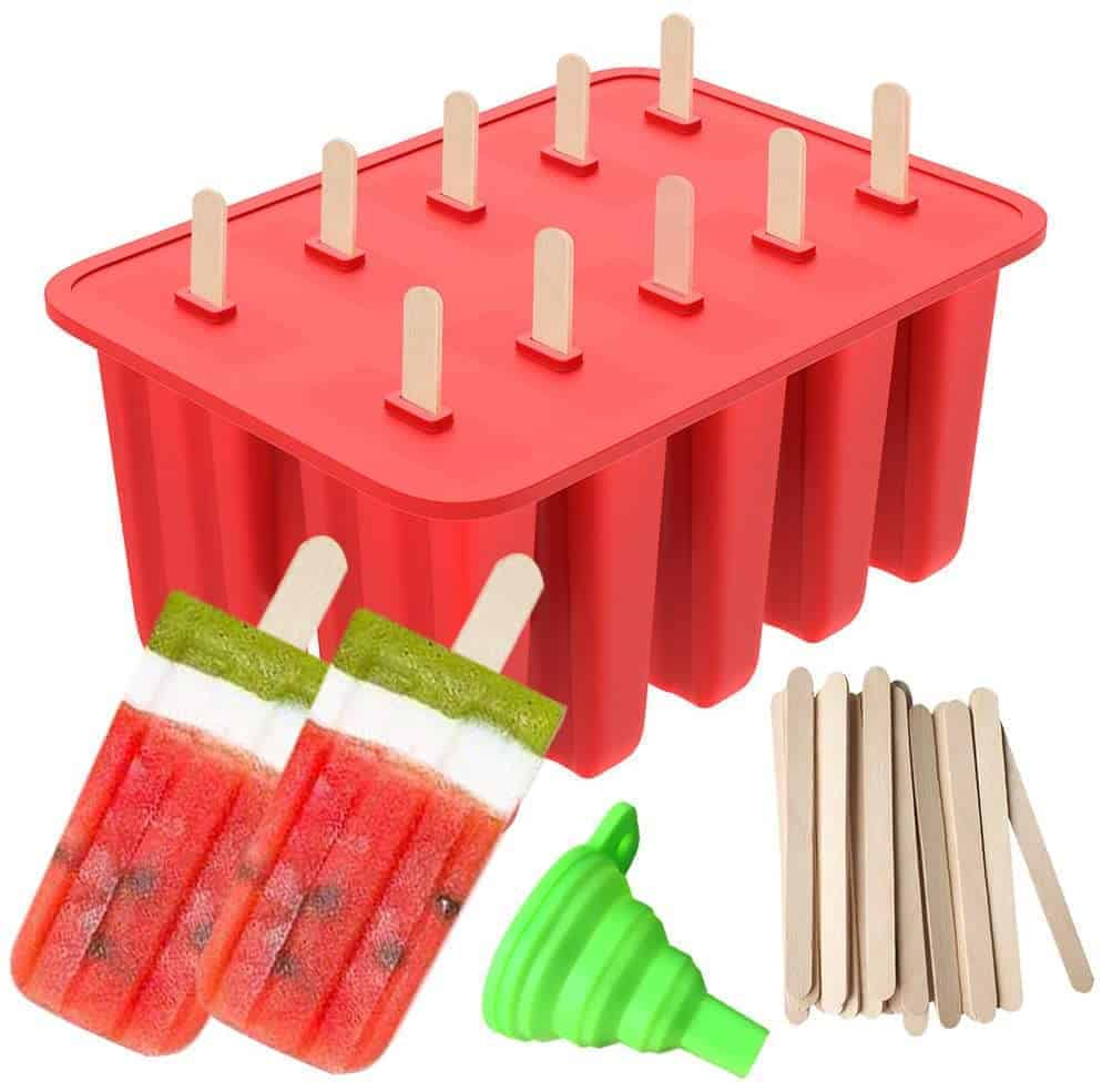 popsicle mold with sticks built in