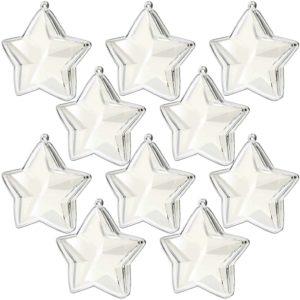 stars plastic fillable ornaments