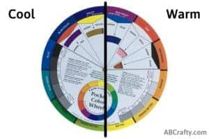 color wheel showing cool vs warm tones and colors