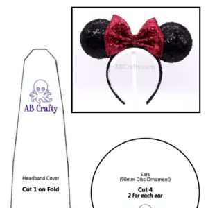 "Mickey Ears Template titled ""Free Printable Template for Light Up Mickey Mouse Ears"