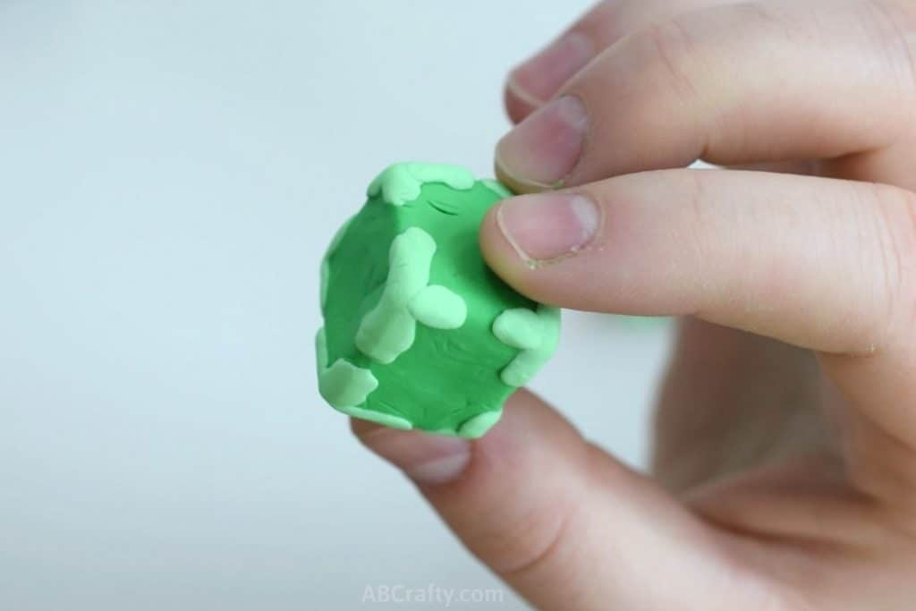 unbaked eraser in the shape of a slime block without the face