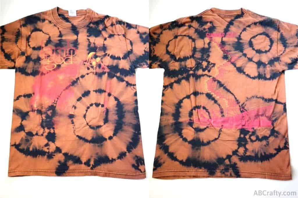 bleach tie dye lamb of god t shirt with a target tie dye pattern