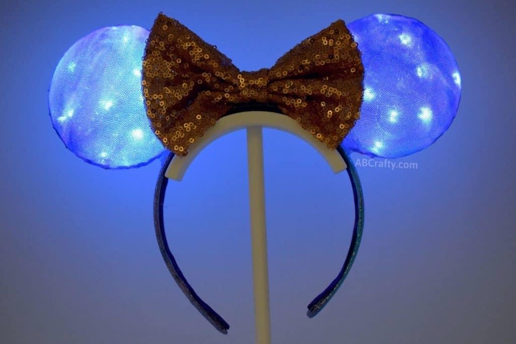 lit up diy disney world 50th anniversary ears