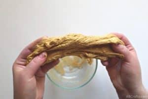 pulling chunky gold goo